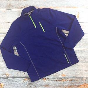 Under Armour Men's Blue 1/4 Zip Fleece Pullover XL